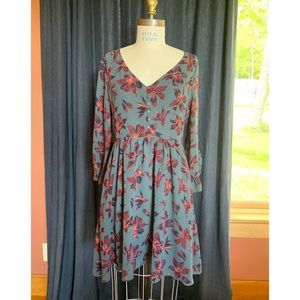 Madewell - Moonblossom Dress in Winter Orchid Sz 4